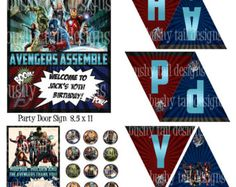 Invitación fiesta de Avengers paquete de 10 por bellybeancards