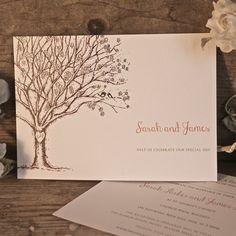 Tree of Love Day Invitation | Personalised Wedding Invitations
