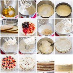 Berry Chantilly Cake - step by step photo instruction