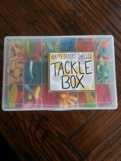 Fathers day gift - candy tackle box