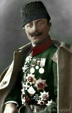 Cevat Paşa (İsmail Cevat Çobanlı) Eurasian Steppe, Golden Horde, Turkic Languages, Indian Hindi, Blue Green Eyes, World War One, Ottoman Empire, Historical Pictures, North Africa