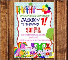 Baby First TV Birthday Party Invitations  Baby First TV