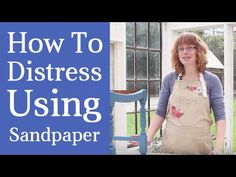 How To Distress Furniture With Sandpaper | Painted Wood Furniture Distressing Technique | http://www.countrychicpaint.com/tutorials Enter to WIN FREE PRODUCT...