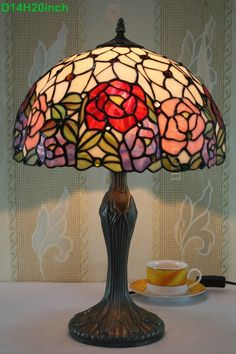 Rose Tiffany Lamp  14S0-181T311
