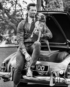 Dog lover  Goodwood Magazine cover without text next to the amazing Hero from @batterseadogsandcatshome •  by @tomobrejc  Check my Tumblr for more HQ outtakes of this editorial (Link in Bio)