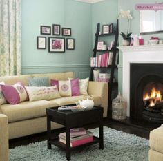 Such a girlie living room & I love it!