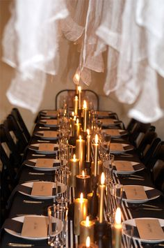gold candles and black/white stripes