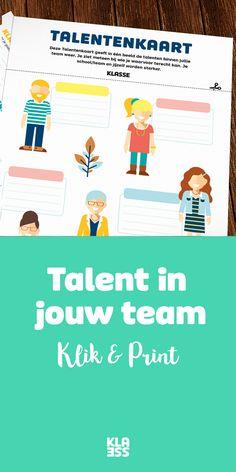 Talentenkaart: zit jouw lerarenkamer vol talent? Co Teaching, Leader In Me, Coping Skills, Primary School, Social Work, Team Building, Teamwork, Problem Solving, Have Fun