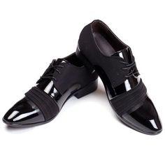 Encontrar Más Pisos para hombres Información acerca de Casual de negocios moda para hombre punta estrecha Lace Up pisos primavera / otoño hombres zapatos de vestir 1.9, alta calidad color de zapatos vestido rojo, China senderismo zapatos Proveedores, barato calzado zapatero de My * Home en Aliexpress.com