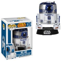 This Star Wars R2-D2 Pop! Vinyl Bobble Head is going to look amazing in your collection, along with all of the other Star Wars characters.  Our favorite droid from Star Wars has been given the vinyl figure bobble head treatment and he looks cute as a button. This R2-D2 stands 3 3/4-inches tall