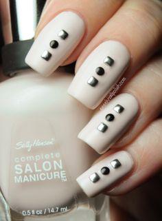 Sally Hansen - Crinoline nails. #nailart #naildeisgn