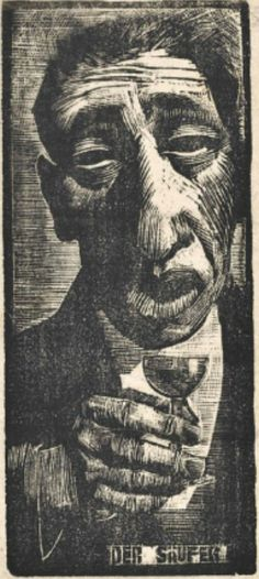 Woodcut by Josef Čapek, 1920s. It's prints like this which will one day tempt me away from lino.