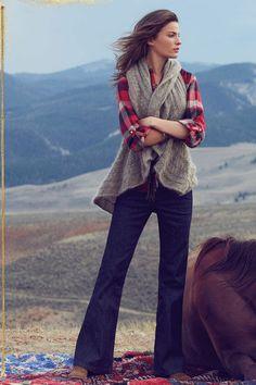 Sweater vest to plaid shirt & boots - LOVE! November Lookbook