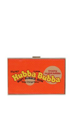 Hubba Bubba Imperial Clutch by Anya Hindmarch - Moda Operandi Anya Hindmarch Handbags, Novelty Bags, Novelty Handbags, Humor, Bubble Gum, Purses And Handbags, Leather Handbags, Snake Skin, Clutch Bag