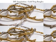 How to make those gold twig bangles everyone's selling for 8 gajillion dollars | a pair and a spare