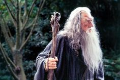 Gandalf consulting with Saruman.