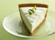 FLUFFY KEY LIME PIE –Made w/ key lime juice and sweetened condensed milk