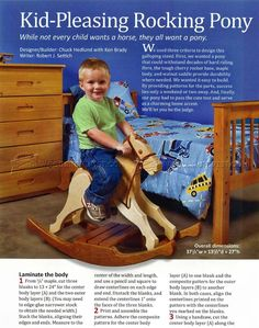 Rocking Horse Plans - Wooden Toy Plans