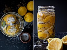 Preserved lemons - to use with recipes -With a fruiting lemon tree in my back yard - I'm possibly going to try this out!~