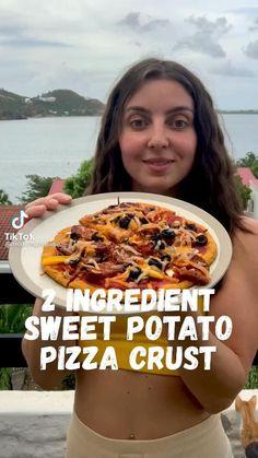 Gluten Free Recipes, Vegetarian Recipes, Healthy Recipes, Plant Based Diet, Plant Based Recipes, Sweet Potato Pizza Crust, Whole Food Recipes, Cooking Recipes, Healthy Snacks