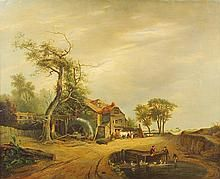 """George Vincent (British, 1796-1831), """"An Old Farmstead Near Norwich,"""""""