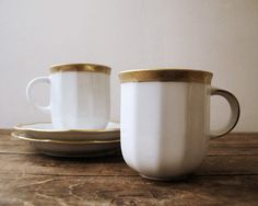 Antique Espresso Cups, White with Gold, Made in Germany on Etsy, Sold