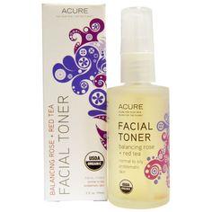Acure Organics, Facial Toner, Balancing Rose + Red Tea, 2 fl oz (59 ml) - Agora Nutrition