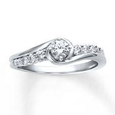 99115110999 - Diamond Engagement Ring 3/8 ct tw Round-cut 10K White Gold