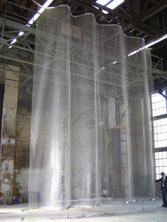 Sistemi di Fissaggio Architecture Details, Interior Architecture, Cafe Interior, Interior Design, Loft Interiors, Metal Screen, Curtains With Rings, Scenic Design, Warehouse Design