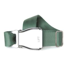 Airplane Buckle Belt Sage Green, 27€, now featured on Fab.