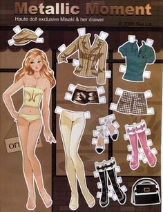 Metallic Moment Paper Doll