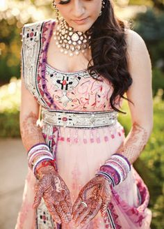 12 Indian Bridal Hair and Makeup Looks We Love   The Knot Blog – Wedding Dresses, Shoes,  Hairstyle News  Ideas