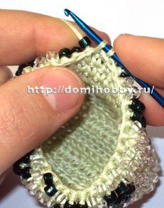 Вязание с бисером крючком