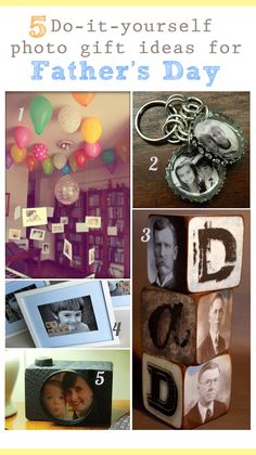 Five Do-it-yourself #FathersDay Photo Gift Ideas! #photography #DIY