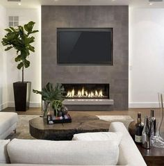 Product Highlights: Designed with front heating vent so that the unit can be flush mounted into wall Includes log set and crystal set Slim frame that features a large fireplace viewing area with life-like LED flames. Modern Electric Fireplace, Recessed Electric Fireplace, Electric Fireplaces, Fireplace Modern, Contemporary Fireplaces, Fireplace Tv Wall, Fireplace Design, Wall Fireplaces, Fireplace Feature Wall