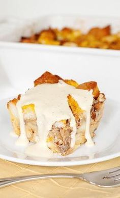 Bourbon Pumpkin Bread Pudding....it says you can omit the bourbon.