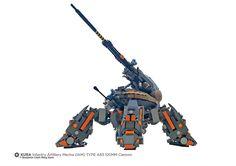 KURA Infantry Artillery Mecha (IAM) TYPE A83 120MM Cannon