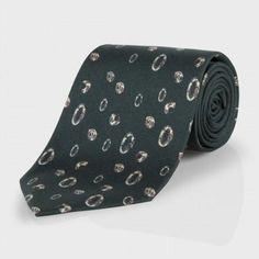 Paul Smith Ties - Classic Green Scribble Spot Print Tie