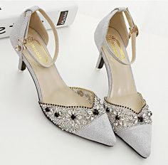 Stock 2016 New Purple Silver Crystals Wedding Shoes Kitten Heel Poited Toe Rhinestones Bridal Shoes Sexy Party Evening Shoes Wholesale White Wedding Heels Wide Width Wedding Shoes From Dressseller, $45.23| Dhgate.Com