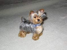 Needle Felted Dog / Custom Miniature Sculpture by GourmetFelted