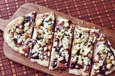 Apple Basil and Feta Flatbread