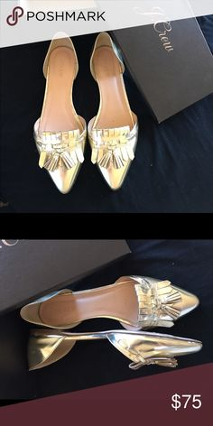 J.Crew Pointed Toe Tasseled Dorsey Dress Loafer PURE SOPHISTICATION!! These babies look great casually with boyfriend jeans and a white tee or with a cute fem suit!  Sold out of store. Worn once. J. Crew Shoes Flats & Loafers