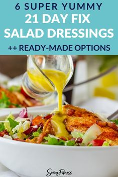Yummy 21 Day Fix Dressing Recipes + Favorite Ready Made Options 21 Day Fix Approved Salad Dressings - Ranch, Avocado, Caesar, Italian & Herb dressings! 21 Day Fix Meal Plan 21 Day Fix Desserts, 21 Day Fix Snacks, 21 Day Fix Diet, Healthy Food List, Healthy Eating, Healthy Recipes, Healthy Meals, 21 Day Fixate Recipes, Salad Recipes