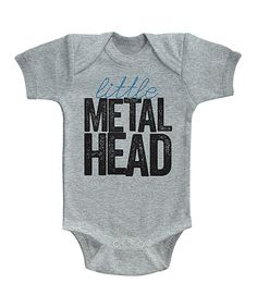 Look at this #zulilyfind! Gray Heather 'Metal Head' Bodysuit - Infant by American Classics #zulilyfinds