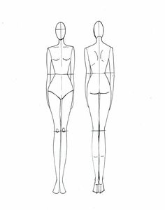 Fashion Drawing Templates Front and Back