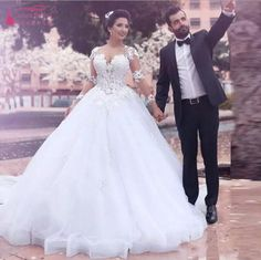 Find More Wedding Dresses Information about Saudi Arabic Middle East Ball  Gown Wedding Dresses Sheer Jewel 1fedda818134
