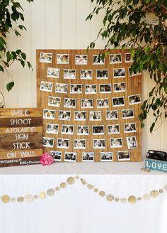 48 ideas wedding guest book polaroid creative for 2019 Diy Wedding Bar, Wedding Guest Looks, Wedding Signs, Trendy Wedding, Wedding Ideas, Wedding Summer, Wedding Rustic, Budget Wedding, Wedding Colors