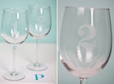 great gift: etched wine glasses