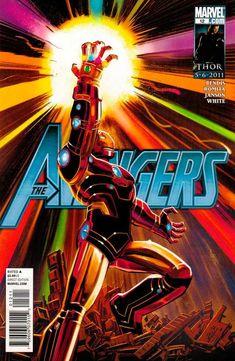 Avengers 12 / Ironman Wields Infinity Gauntlet Cover / Marvel Comics 2011 / Selling Now! Marvel Comics, Marvel Heroes, Captain Marvel, Marvel Comic Character, Marvel Characters, Stan Lee, Comic Book Heroes, Comic Books Art, Marvel Universe