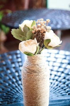 I'm starting to like these twine wrapped vases more and more